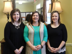 (left) Kendall Williford, Admissions(middle) Emily Cain, Human Resources (right) Tamala Lee, Social Services Director