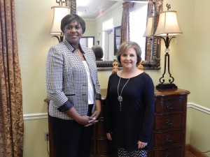 (left) Trece Mays, Administrator (right) Vickie White, Director of Nursing